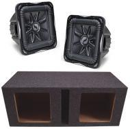 """Kicker Subwoofer Package (2) S15L7 Subs & Vented 15"""" Enclosure"""