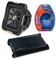 "Kicker Car Stereo 15"" Sub Package 2011 S15L7 Dual 2 Ohm Subwoofer, DX300.2 Amp & Install..."