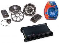 "Kicker Car Audio KS6.2 Component 6"" Four Speakers, DX300.2 Amplifier & Amp Install Kit"
