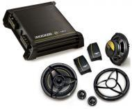 "Kicker Car Audio DX125.2 Amplifier Amp & DS650.2 6 1/2"" Component Speaker Package System"