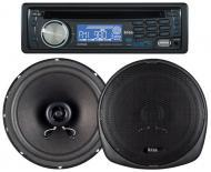 Boss 647CK - 647UA CD/MP3 AM/FM Receiver With USB and SD Memory Card Ports Plus one Pair of 6.5&q...