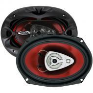 "Boss CH6930 CHAOS EXXTREME 6"" X 9"" 3-Way Speaker Red Poly Injection Cone"