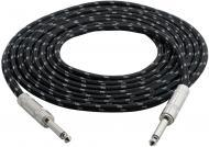 Pyle PCBL1F12 Premium Quality 12 Ft 1/4' To 1/4' Guitar/Instrument/Amp Cable W/Fabric S...