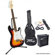 Pyle PEGKT15SB Beginner Electric Guitar Package - Sun Burst