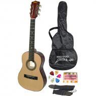 Pyle PGAKT30 30' Inch Beginner Jammer, Acoustic Guitar w/ Carrying Case & Accessories