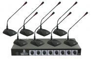 Pyle Home Audio PDWM8300 Professional Conference Desktop VHF Wireless Microphone System