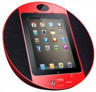 Pyle Home Audio PIPDSP2R iPod/iPhone iPad Touch Screen Dock with Built-In FM Radio/Alarm Clock (Red)