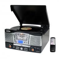 Pyle Home Audio PTCD8UB Retro Style Turntable With CD/Radio/USB/SD/MP3/WMA and Vinyl-to-MP3 Encod...