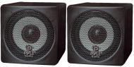 Pyle Home Audio PCB3BK 3' 100 Watt Black Mini Cube Bookshelf Speaker In Black (Pair)