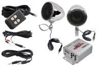 Pyle Audio PLMCA10 100W Motorcycle / ATV / Snowmobile Mount MP3 / iPod Amplifier w/ Dual handle-b...