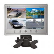 Pyle PLHRQD9W 9' Quad TFT / LCD Video Monitor with Headrest Shroud & BNC / RCA Connector...