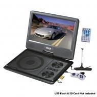 Pyle Home Audio PDH9 9' Portable TFT/LCD Monitor w/ Built-In DVD Player MP3/MP4/USB SD Card ...