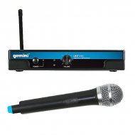 Gemini UHF-116M Single 16-Channel Wireless Handheld UHF Microphone System