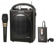Pyle Pro Audio PWMA200 Rechargeable Portable PA System with Wireless Lavalier/Headset MIC and 1 W...