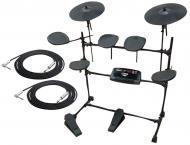 "Pyle Pro Audio PED02M Electronic 10 Piece Drum Kit MP3 Recording with 1/4"" Jack TRS Cables"