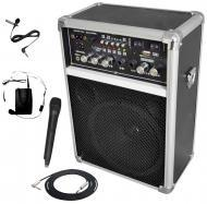 """Pyle Pro Audio DJ PWMA170 Battery Powered Dual Wireless Mic 6"""" PA Speaker with 1/4"""" Cable"""
