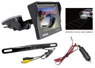 "PYLE PLCM4700 Die-Cast License Plate Mount Rearview Backup Color Camera with 4.7"" LCD Monitor"