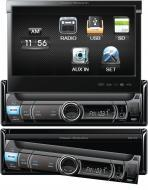 Power Acoustik PDR-780 Single DIN Digital Rcvr w/ Flip-up 7 LCD Touch Screen