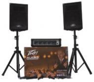 """Peavey Audio Performer Pack All-In-One Package Includes Mixer 2 10"""" Speakers Two Mics & ..."""