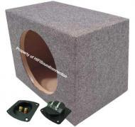 "15"" Single Subwoofer Box Rear Fire Unloaded Enclosure"