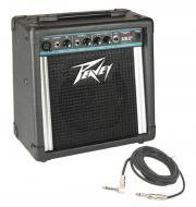 "Peavey Solo Electric Guitar Combo 12W Amp 8"" Speaker with 1/4"" Instrument Cable"