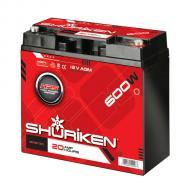 Shuriken SK-BT20 12V Compact Size AGM Technology Car Battery 20 AMP Hours