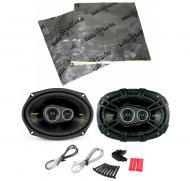 "Kicker CS6934 Car Audio 6x9"" 3-Way 300 Watt Full Range Pair Speakers with Speaker Door Kit"