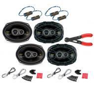 "Kicker (2) CS6934 Car Audio 6x9"" 3-Way 300 Watt Full Range Pair Speakers with 0-300Hz Bass B..."