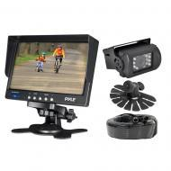 PYLE PLCMTR71 Universal Rearview Camera System w/ 7 In Mountable TFT Monitor