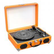 Pyle Home Audio PVTT2UOR Retro Belt-Drive Turntable with USB to PC Connection - Orange
