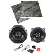 "Kicker CS54 Car Stereo 5.25"" Coaxial 225 Watt Full Range Pair Speakers with Speaker Door Kit"
