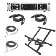 Peavey Tour 450 Bass Power Amplifier Head 450 Watt Speaker Amp with (2) Speakon Cables, (2) 1/4&q...