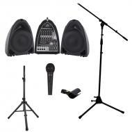 Peavey PVI Portable All in One 8 Channel Mixer PA Speaker 300 Watt System with PVI 100 Microphone...