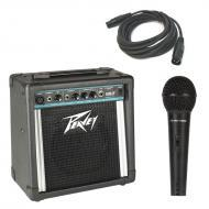 """Peavey Solo Portable Battery Powered 8"""" PA Speaker System with PVI 100 Microphone & XLR ..."""