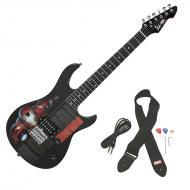 Peavey Rockmaster 3/4 Student Marvel Iron Man 21 Fret Maple Neck First Beginner Electric Guitar