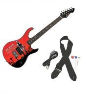 Peavey Rockmaster Full Size The Walking Dead - Grave Digger Rick Maple Neck 21 Fret Electric Guitar