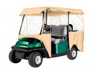 Armor Shield 4 Passenger Deluxe Golf Cart 4 Sided Enclosure Tan Color w/ Zippered Panels