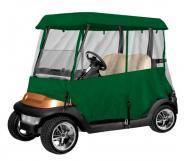 Armor Shield 4 Sided 2 Passenger Golf Cart Enclosure Olive Color w/ Zippered Panels
