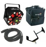 Chauvet DJ Lighting Swarm 5 FX Multi Effect RGBW LED Rotating Derby Laser Light with Travel Bag, ...