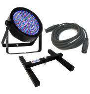 Chauvet DJ Lighting SlimPar 64 RGBA Slim Par Can 7CH DMX LED Color Light with DMX Cable & Upl...