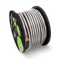 Raptor R51-0-20S Pro Series 1/0 Gauge Power Cable in Silver Color 20 Feet Oxygen Free Copper Cons...