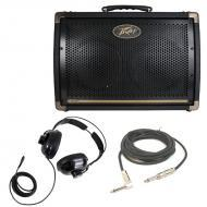 "Peavey Ecoustic E208 Combo Amp 30 Watt Acoustic (2) 8"" Guitar Amplifier with 1/4"" Instr..."