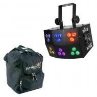 Chauvet DJ Lighting Wash FX Multi Zone Pixel Mapping RGB LED Light with Travel Bag