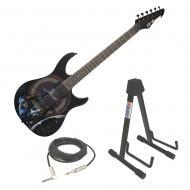 Peavey Captain America Predator Electric Guitar w/ Instrument Stand & 15ft Cable