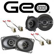 GEO Metro 1992-1994 Factory Speaker Replacement Kicker KSC4 KSC46 Package New