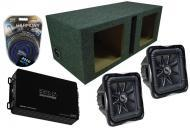 "Kicker Car Audio (2) 08 S12L7 Solobaric Dual 2 Ohm 3000 Watt Square Loaded Dual 12"" Vented S..."