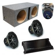 "Kicker Car Audio Loaded Dual 12"" Sealed CVX12 Comp VX Subwoofer Enclosure Sub box with ZX150..."