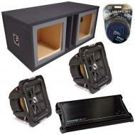 "Kicker Car Stereo Loaded Dual 15"" Square Custom S15L7 L7 Vented Subwoofer Enclosure Sub box ..."