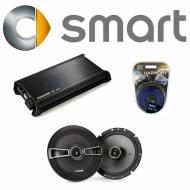 Smart Fortwo 2008-2010 Factory Speaker Replacement Kicker KSC65 & DX400.4 Amp