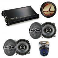 Plymouth Acclaim 89-95 OEM Speaker Upgrade Kicker (2) KS Series & DX400.4 Amp